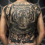 blacktattoo realismo preto cinza cayo farias fechamento costas tigre