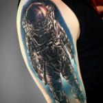 david rocha astronauta espaço space preo cinza