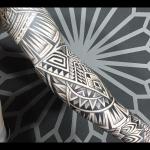 david rocha tribal maori preto black fechamento