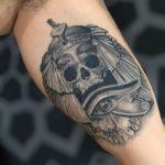 thiago oliveira caveira skull realismo realista preto cinza black
