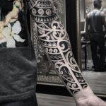 tribal maori blackwork pedro veloso tattoo